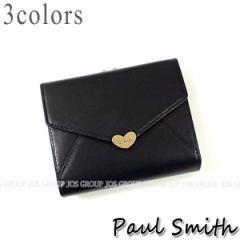 ポールスミス 財布 メンズ レディース Paul Smith ラブレター3 2ツ折がま口財布 全3色 PWU926