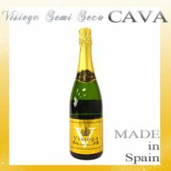 ウィジエガ セミセコ カヴァ Visiega Semi Seco CAVA スパークリングワイン スペイン産 750ml 果汁酒  alc11.5% お中元