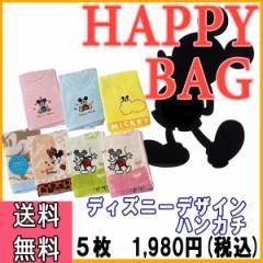 ハッピーバッグ 福袋 ディズニーデザイン ハンカチ セット HAPPY BAG 5枚セット お楽しみ ハンカチ 数量限定 期間限定