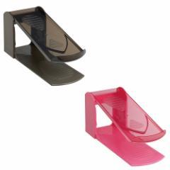 靴収納ハーフ(2足組) ハイヒール対応 高さ調節《伊勢藤》