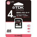 送料無料!TDK SDHCカード 4GB Class4 (5年保証) T-SDHC4GB4