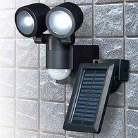 送料無料!ELPA ソーラー 屋外 センサーライト 人感/防雨センサーライト [LED×2灯] 防雨 防犯ライト ESL-N102SL(BK)/[ELPA