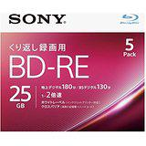 送料無料!ソニー 2倍速対応BD-RE 5枚パック 25GB ホワイトプリンタブル 5BNE1VJPS2(4548736036994)