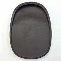 端渓 麻子坑 蛋型 彫雲硯 6吋 『硯石 端渓硯 実用硯 本石 木箱 書道用品』