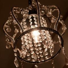 【送料無料・即納】プチシャンデリア 1灯アンティークデザイン シャンデリア クラウン Crown レトロ 姫家具