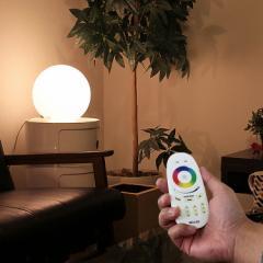照明 LED リモコン付き テーブルライト ボールランプ カクテル  フロアランプ テーブルランプ