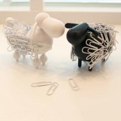 アニマルクリップホルダー Sheep&poodle 動物 文房具 ひつじ デスク 文具 おもしろ 整理 ホルダー プードル 犬