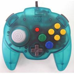 【送料無料】【中古】 N64 任天堂64 ホリパッドミニ64 オーシャンブルー コントローラー 本体