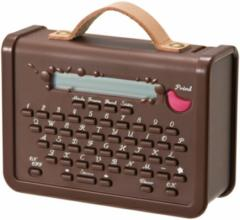 テプラ こはる 本体 茶色 マスキングテーププリンター ラベルライター