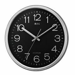 壁掛け時計 電波時計 マルス 銀メタリック