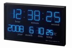 デジタルクロック LED 置き時計/掛け時計兼用タイプ アギラ(カレンダー/温度計/おしゃれ/かっこいい/プレゼント/贈り物/お祝い)