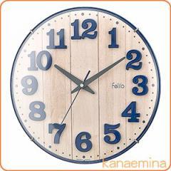 壁掛け時計 かけ時計 ウォールクロック ブリュレ ネイビーブルー(北欧/おしゃれ)