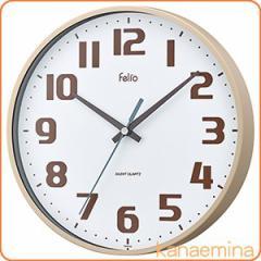 壁掛け時計 かけ時計 ウォールクロック ウォールクロック チュロス アイボリー(北欧/おしゃれ)
