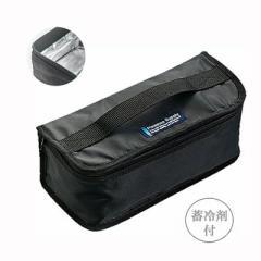 ランチバッグ/お弁当袋 保冷バッグ 2段用 ブラッ...