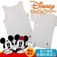 Disney ディズニー 男児用インナー 2枚組 GUNZE グンゼ 男の子 キッズ 半袖 無地 肌着 綿
