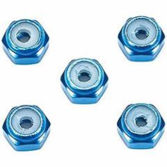 4950344155002:ミニ四駆 GP.500 2mmアルミロックナット (ブルー5個)【新品】 グレードアップパーツ 改造