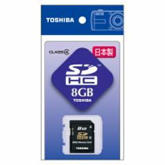 【ゆうメール便!送料80円】[東芝] SDHCメモリカード 8GB Class4 SD-F08GTS