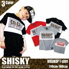 【店内全品送料無料】SHISKY BREAKUP 切替え 半袖 Tシャツ