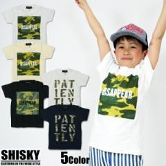 【店内全品送料無料】SHISKY 迷彩プリント 半袖 スラブ Tシャツ