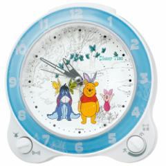 SEIKO セイコークロック ディズニータイム FD462W 目ざまし 時計 くまのプーさん アナログ キャラクター 目覚し とけい