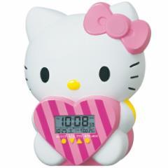 SEIKO セイコークロック キャラクター ハローキティ JF375A 目覚まし時計 48パターンのおしゃべり 温度表示 デジタル HELLO KITTY