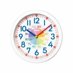 SEIKOセイコークロック クォーツ知育 KX617W 壁掛け時計 白塗装 アナログ 子供 幼児 時計の 勉強 学習 練習 見方 掛時計