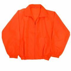 【大量注文OK!】ユニフォーム・イベントに最適!ポリエステルヤッケ(ブルゾンタイプ)イベントジャンパー■蛍光オレンジ(橙色)