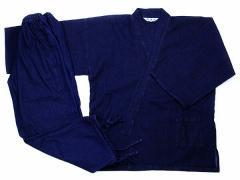 デニム作務衣(さむえ)!軽量タイプの袖口ゴム仕様、6.5オンスデニムの作務衣Ver.2