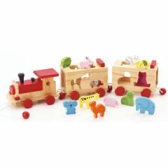 どうぶつパズル汽車 W-150(電車/パズル/木の玩具/ウッド/木/おもちゃ/人気/汽車/木製/動物/アニマル/知育玩具)【無料ラッピング対応可】