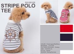【メール便送料無料】【同梱不可】ドッグウエア/犬服 ストライプポロシャツ