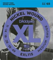 Daddario EXL115 ダダリオ エレキギター弦【送料無料】