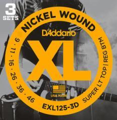 Daddario EXL125-3D【3パックセット】ダダリオ エレキギター弦【送料無料】