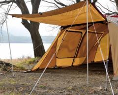 スノーピーク ポール TP-080 アップライトポールセット アルミポール190cm(×2)/自在付二又用ロープ(7m×2)/ジュラピンペグ(21cm×4)/
