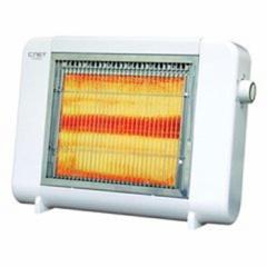 電気ストーブ(ハロゲン2灯式) 電気ヒーター シンプル コンパクト 暖房器具 あったか家電 持ち運び ストーブ CNET CEHR201