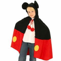 【アウトレット(保証なし)】Mickey Cape ミッキーマウス ケープ マント コスチューム コスプレ 衣装 RUBIES JAPAN 802520