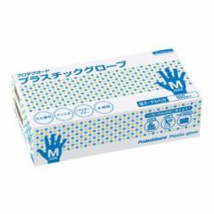 ○お取り寄せ商品 送料無料 プロテクガード プラスチックグローブ Mサイズ 100枚×10ボックス 11017