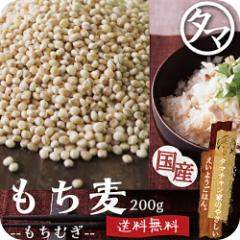 【送料無料】もち麦200g (国産・無添加・28年度産)もっちりプチプチとした食感と食物繊維を豊富に含んでいるのが特徴です。高タンパク、