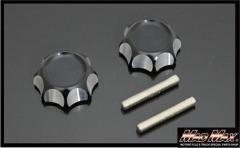 モンキー くるくるハンドル用 アルミハンドルノブ ブラック シャリー、折りたたみ、セパハン、Z50A、Z50M、Z50J、アルマイト,MONKEY