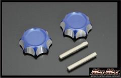 モンキー くるくるハンドル用 アルミハンドルノブ ブルー シャリー、折りたたみ、セパハン、Z50A、Z50M、Z50J、アルマイト,MONKEY