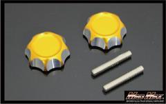 モンキー くるくるハンドル用 アルミハンドルノブ ゴールド シャリー、折りたたみ、セパハン、Z50A、Z50M、Z50J、アルマイト,MONKEY