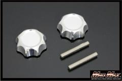 モンキー くるくるハンドル用 アルミハンドルノブ シルバー シャリー、折りたたみ、セパハン、Z50A、Z50M、Z50J、アルマイト,MONKEY