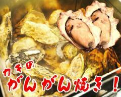 【送料無料】 牡蠣のガンガン焼き 2kg(特製だし・軍手・カキナイフ付) 【冷凍発送】