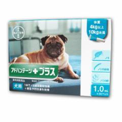 【動物用医薬品】アドバンテージプラス犬用 (体重4kg以上10kg未満)1.0ml×3ピペット