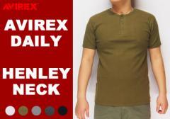 AVIREX[アヴィレックス] デイリー 無地 半袖 ヘンリーネック Tシャツ/6143504