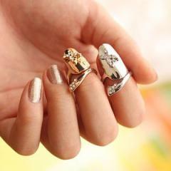 アゲハネイルリング チップリング ネイル 指先の指輪 爪の指輪 ネイルリング チョウチョウ 蝶々 バタフライ ファランジリング ミディリン