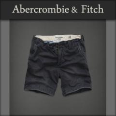 アバクロ Abercrombie&Fitch 正規品 メンズ ショートパンツ SHORT PANTS SHORTER FIT ネイビー