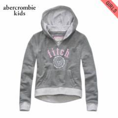 アバクロキッズ AbercrombieKids 正規品 子供服 ガールズ プルオーバーパーカー chloe hoodie GREY