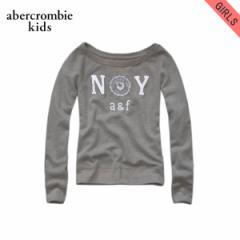 アバクロキッズ AbercrombieKids 正規品 子供服 ガールズ スウェット brieann sweatshirt GREY