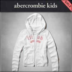 アバクロキッズ AbercrombieKids 正規品 子供服 ガールズ ジップアップパーカー shine logo hoodie 252-767-0174-001