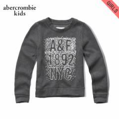 アバクロキッズ AbercrombieKids 正規品 子供服 ガールズ フリース shine logo graphic sweatshirt 252-767-0241-012